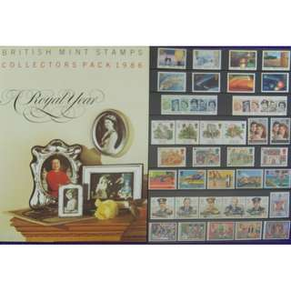 British Mint Stamps - Collectors Pack 1986