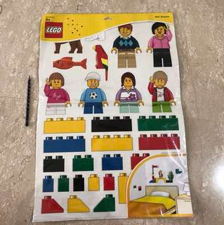 Lego wall stickers