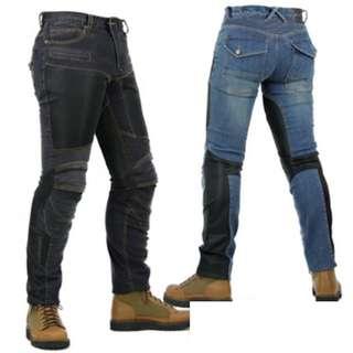 INSTOCK Motorbike - Men / Unisex Mesh Panels Riding Jeans / Pants