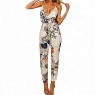 Super Cute Tropical Jumpsuit