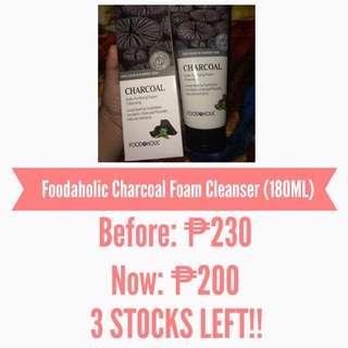 GRAND SALE!! Foodaholic Charcoal Foam Cleanser (180ML)