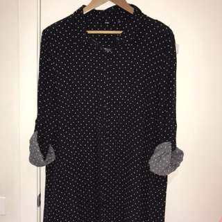 Over size poker dot dress