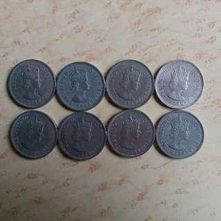 香港 英女皇 大壹圓 大一元 一套8個