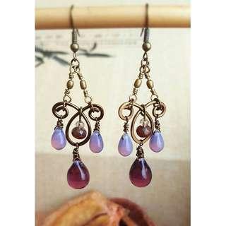 HANDMADE! Bead Earrings 10016
