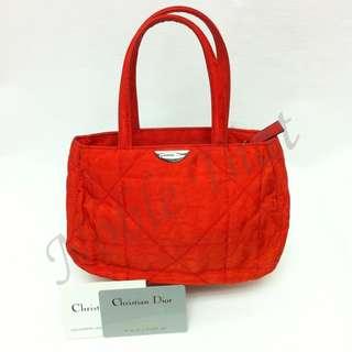 Christian Dior - 色丁間棉手提包