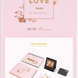 Loose item twice season greeting 2018