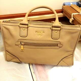 Authentic Prada Leather Handbag 全皮手袋