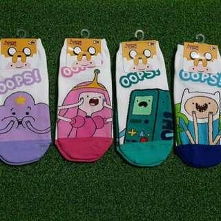 Korean/Iconic Socks Adventure Time (Low cut)