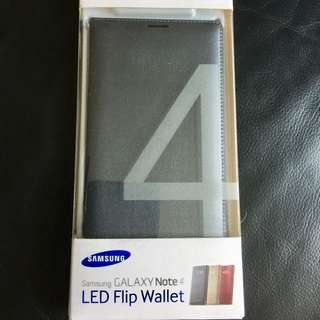 BN Auth Samsung Note 4 Led Flip Wallect Cover