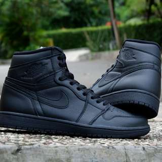 Nike air jordan 1 retro og black university red original