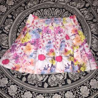 Cute short summer floral skirt