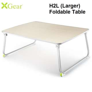 Xgear H2L Large (600mm x 360mm x 9mm) Foldable Laptop Table Desk Oak Colour