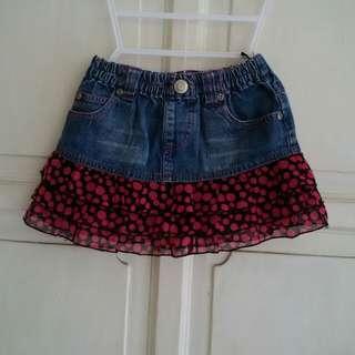 #BuahHatiku Rok Jeans Import size 110 (3-4 tahun)