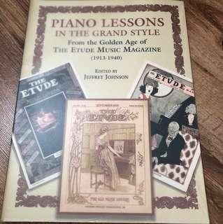 Piano lesson in grand style