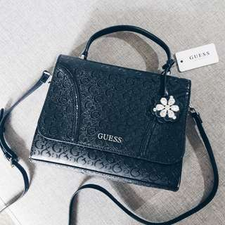 GUESS Monogram Satchel