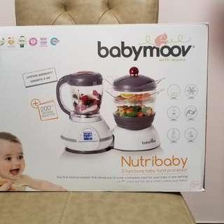Babymoov Nutribaby baby food processor 5 in 1(color- Cherry)