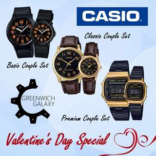 [VALENTINE'S DAY PROMO] Casio Couple Watch Set
