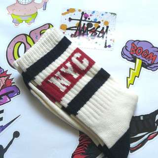 Old school sock 袜 襪 (skool, stance, vans, racer, nike, adidas, vintage, ultra boost, stan smith, new balance)