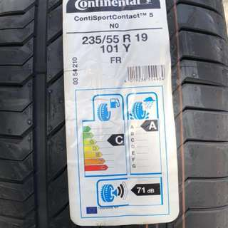 **CNY 2018 MEGA SALE!** Brand New Continental Sport Contact 5 235/55R19