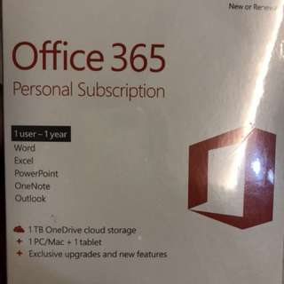 Office 365 personal subscription for a year