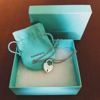 Tiffany & Co Necklace Heart Lock and Chain