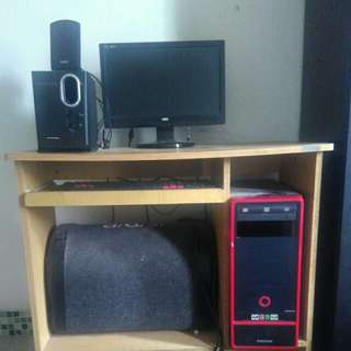 Komputer, PC, Speaker, meja komputer