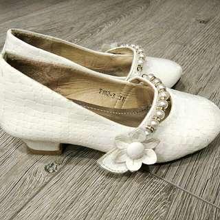 Girls White Heels