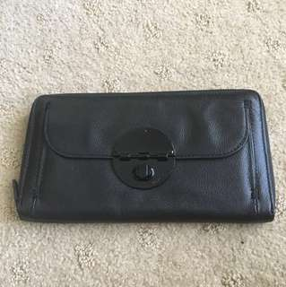 Mimco turnlock travel wallet