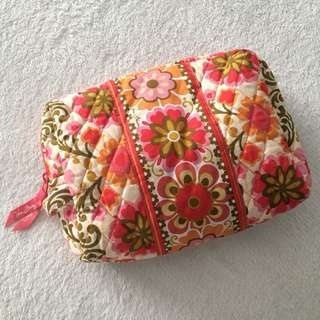 Vera Bradley Quilted floral toiletry/make up kit