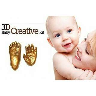 DIY 3D Baby Hand Footprint Kit With Photo Frame