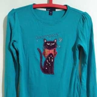 🚚 貓咪藍色冬季上衣