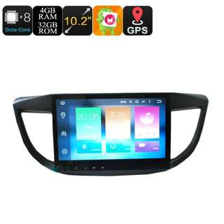 10.2 Inch 1 DIN Car Stereo For Honda CRV - 4+32GB, Android 6.0, Octa-Core, 3G, 4G, CAN BUS, GPS, Bluetooth, Wi-Fi, Google Play (CVAIO-C586)