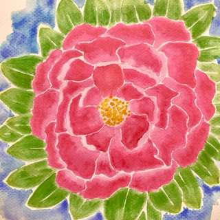 Pink Floral Watercolor Painting