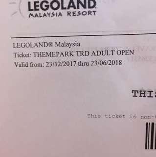 Legoland ticket theme park