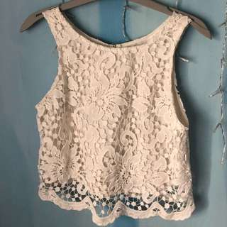 White Embroidery Floral Top