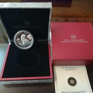 2010 加拿大發行(虎年)紀念銀幣
