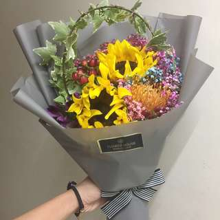 2s Sunflower bouquet