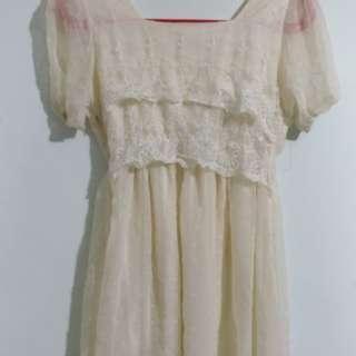 🚚 白紗小洋裝