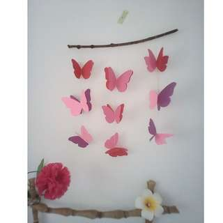 Paper mobile with butterflies