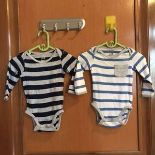 2pc H&M long sleeved jumper size 1-2 m
