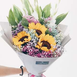 3s sunflower bouquet