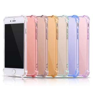 Colorful Shockproof Clear Transparent Case for iPhone