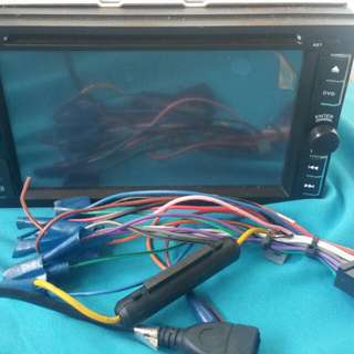 Double din audio player