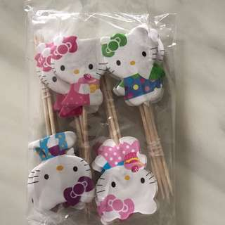 Hello Kitty Cake Toppers 24 pieces