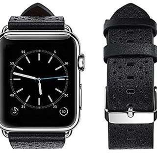 Apple Watch band -42mm - Breathable style - Black 皮帶