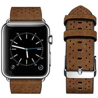Apple Watch band - 42mm - Breathable style - Brown 皮帶
