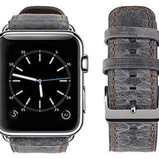 Apple Watch band - 42mm - Retro style -Gray 皮帶