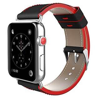 Apple Watch band 42mm - Sports Style black & red 皮帶