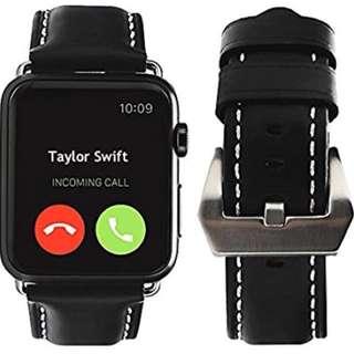 Apple Watch band 38mm / 42mm - black 皮帶