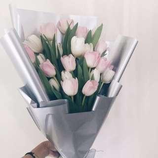 Vday 20s tulip bouquet